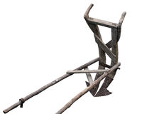 charrue antique en bois Photographie stock libre de droits