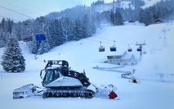 Charrue de neige photographie stock libre de droits