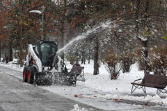 Charrue de neige Photo stock