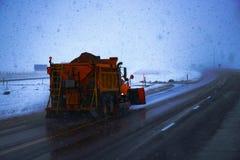 Charrue de neige Photos stock