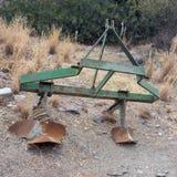 Charrue pour labourer le sol Charrue pour se desserrer de la terre Charrue après pl Image stock