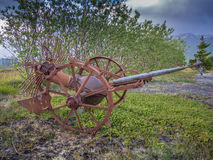 Charrue tirée par cheval abandonnée Image libre de droits