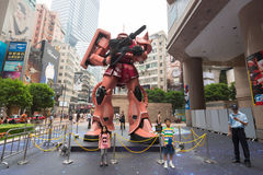 Char's Zaku II in Hong Kong Royalty Free Stock Photos