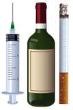 charset κρασί συρίγγων τσιγάρων Στοκ Εικόνα
