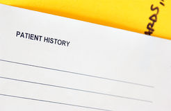 Chart. Patient history medical chart Royalty Free Stock Image