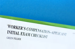 Chart. Worker's compensation medical chart Royalty Free Stock Photos