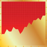Chart. Vector illustration of a chart Royalty Free Stock Photos