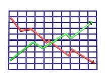 Chart. 3D Chart Royalty Free Stock Photos