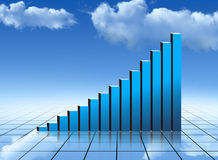Chart. Financial graph report,stats Royalty Free Stock Images