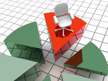 Chart. 3d. Very beautiful three-dimensional graphic illustration royalty free illustration