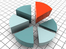 Chart. One chart. 3d object. business royalty free stock images
