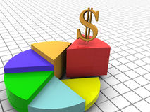 Chart. Very beautiful three-dimensional graphic object. chart 3d royalty free stock photography