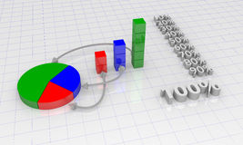 Chart. Background with diagram and arrows Stock Image