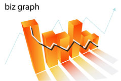 Chart. Illustration of chart....biz graph stock illustration