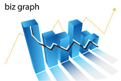 Chart. Illustration of chart....biz graph vector illustration