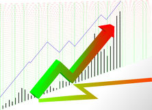 Chart. Vector illustration - Chart growing market Royalty Free Stock Photography