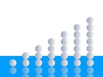 Chart. Made with circle - vector illustration Royalty Free Stock Image