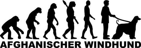 Chart Afgański ewoluci słowa niemiec royalty ilustracja