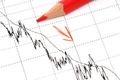 Chart analysis Royalty Free Stock Photos