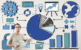 Chart Analysis Financial Accounting Concept. Business Analysis Accounting Financial Concept Stock Photography