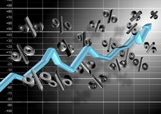 Chart And Percentage Stock Image