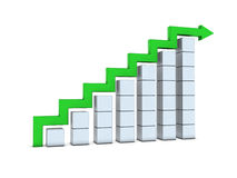 Chart with arrow Royalty Free Stock Photos