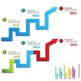 Chart arrow Royalty Free Stock Image