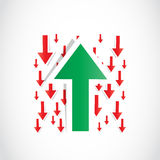 Chart arrow background Stock Photos