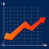 Chart  arrow Stock Images
