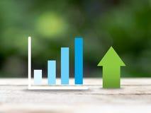 Chart and arrow Stock Image