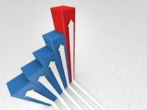 Chart With Arrows Royalty Free Stock Image