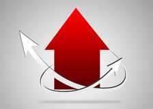 Chart of arrows Stock Photography