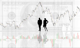 Chart background with people Royalty Free Stock Images
