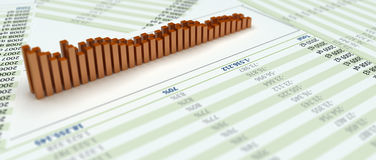 chart bars Stock Images