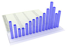 Chart bars Stock Photos