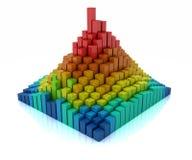 chart bars Stock Image