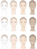 Chart of Beautiful Woman complexion Stock Photos
