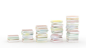 Chart of books  Royalty Free Stock Image
