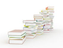 Chart of books on white Royalty Free Stock Photo