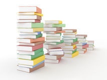 Chart of books Stock Image