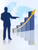 Chart business presentation Stock Image