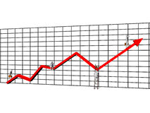 Chart with Businessmen Royalty Free Stock Image