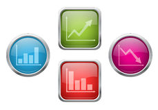 Chart buttons Stock Photo