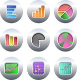 Chart buttons vector illustration