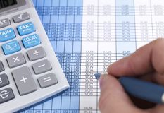 Chart and Calculator Stock Photos
