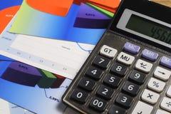 Chart, Calculator & Pen Stock Photos