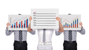 Chart and check box Royalty Free Stock Photos