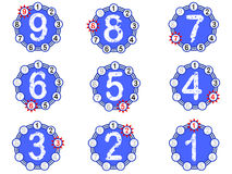 Chart Countdown - Blue. Chart Countdown - with numbers on the outside counting down to 1 Stock Images