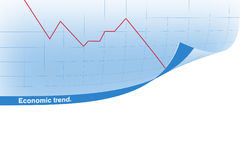 Chart with curl Royalty Free Stock Photos