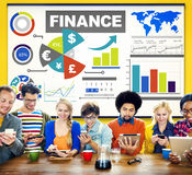 Chart Currency Loan Financial Growth Strategy Plan Concept.  Stock Photo